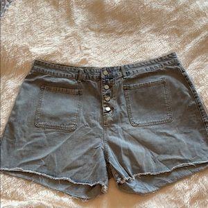 SHEIN jean high waisted shorts size 4XL